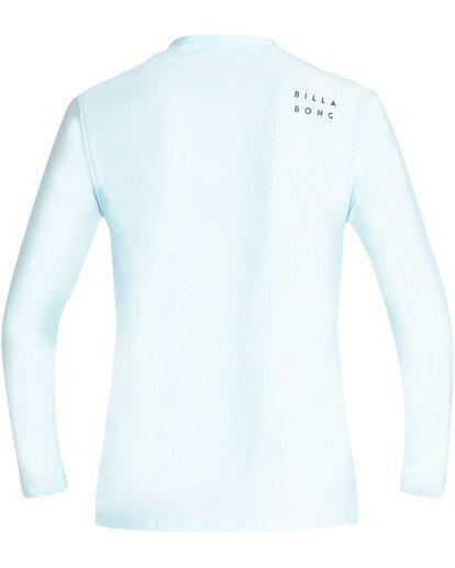 1 Boys' All Day Wave Loose Fit Long Sleeve Rashguard Blue BR61TBWL Billabong
