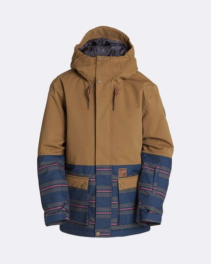 0 Boys' Fifty 50 Outerwear Jacket Yellow BSNJQFIF Billabong