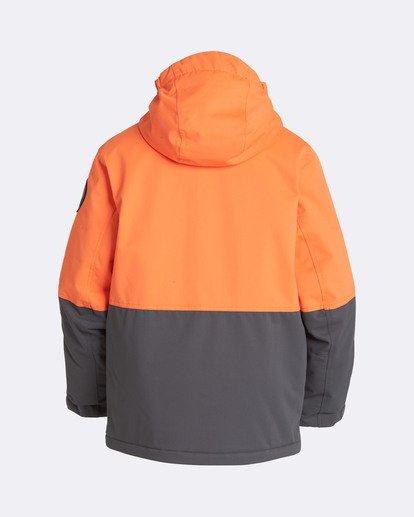 1 Boys' Fifty 50 Outerwear Jacket Orange BSNJQFIF Billabong