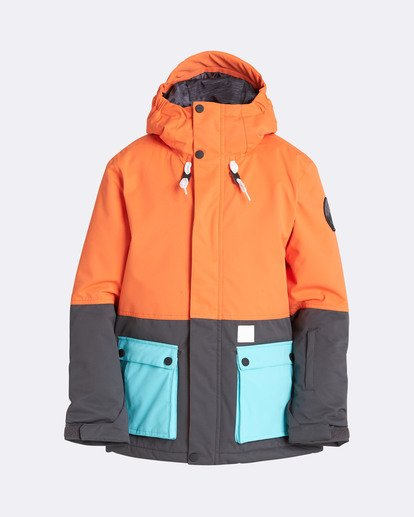 0 Boys' Fifty 50 Outerwear Jacket Orange BSNJQFIF Billabong