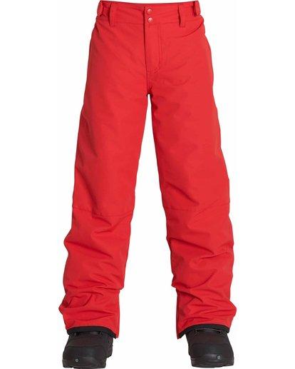 0 Boys' Grom Snow Pants Red BSNPLGRM Billabong