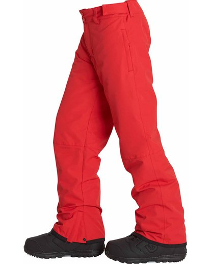 2 Boys' Grom Snow Pants Red BSNPLGRM Billabong