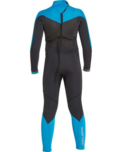 4 Boys' 3/2 Absolute Comp Back Zip Fullsuit Black BWFULAB3 Billabong