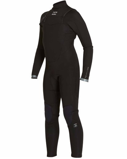 1 Boys' 4/3 Absolute Comp Chest Zip Fullsuit Black BWFULAC4 Billabong