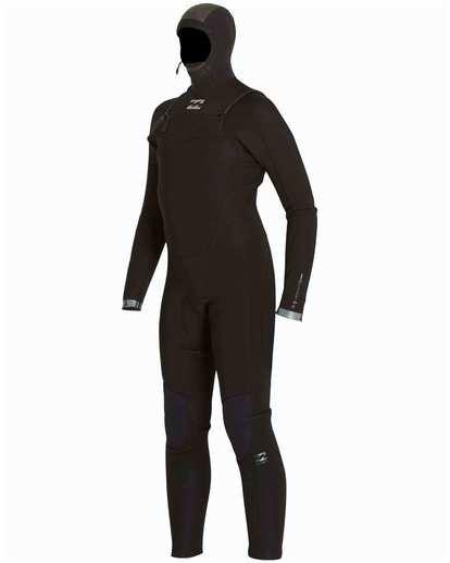 1 Boys' 5/4 Absolute Comp Chest Zip Hooded Fullsuit Black BWFULAH5 Billabong