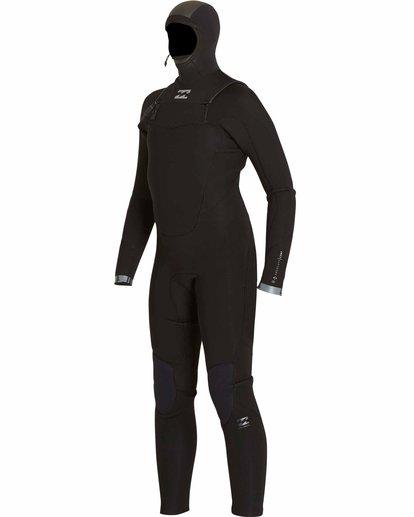 0 Boys' 5/4 Absolute Comp Chest Zip Hooded Fullsuit Black BWFULAH5 Billabong