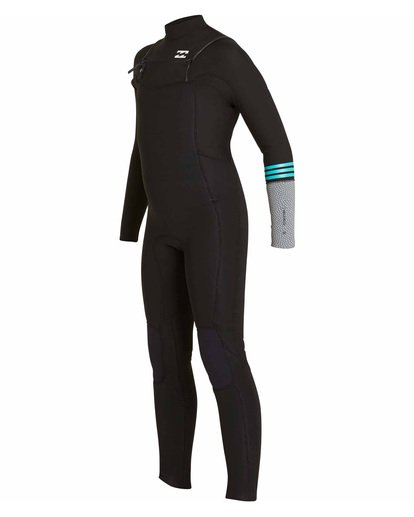 1 Boys' 4/3 Revolution Tribong Chest Zip Fullsuit Black BWFULRC4 Billabong