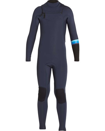 1 Boys' 3/2 Revolution DBah Chest Zip Fullsuit Grey BWFUNBR3 Billabong
