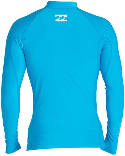 1 Boys' All Day Wave Performance Fit Long Sleeve Rashguard Blue BWLYJICL Billabong