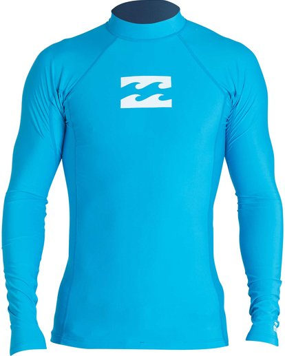 0 Boys' All Day Wave Performance Fit Long Sleeve Rashguard Blue BWLYJICL Billabong