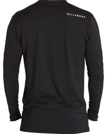 1 All Day Mesh Loose Fit Long Sleeve Rashguard Black BWLYJSBL Billabong