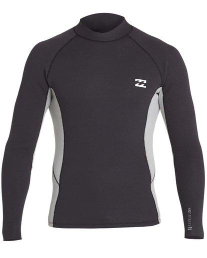 0 Boys' 2mm Revolution Interchange Reversible Wetsuit Jacket Black BWSHNBT2 Billabong