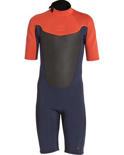 1 Boys' 2/2 Absolute Back Zip Short Sleeve Springsuit Orange BWSPNBAB Billabong