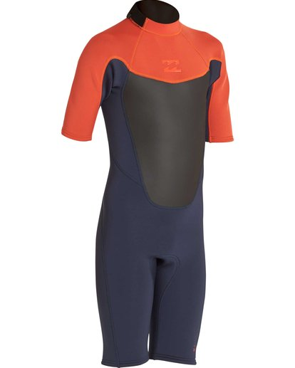 2 Boys' 2/2 Absolute Back Zip Short Sleeve Springsuit Orange BWSPNBAB Billabong
