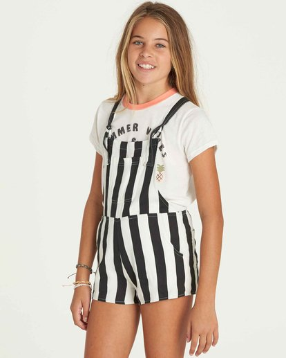 1 Girls' Roamin Overall Shorts  G201PBRO Billabong