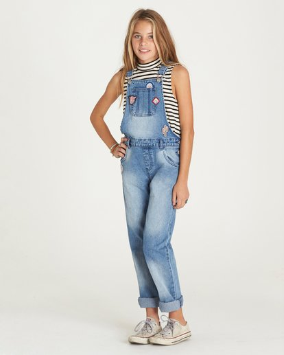 1 Girls' Aloha Yo Overalls  G303LALO Billabong