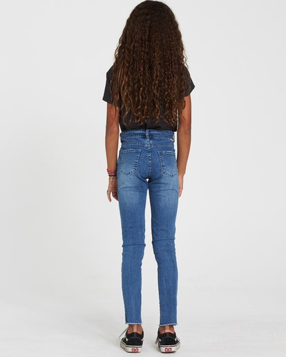 2 Girls' Straight Up Denim Jeans Blue G306SBST Billabong