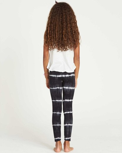 2 Girls' Leg Up Tie-Dye Leggings Black G310SBLE Billabong