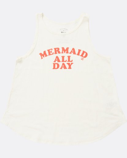 1 Girls' All Day Mermaid Tank White G414SBAL Billabong