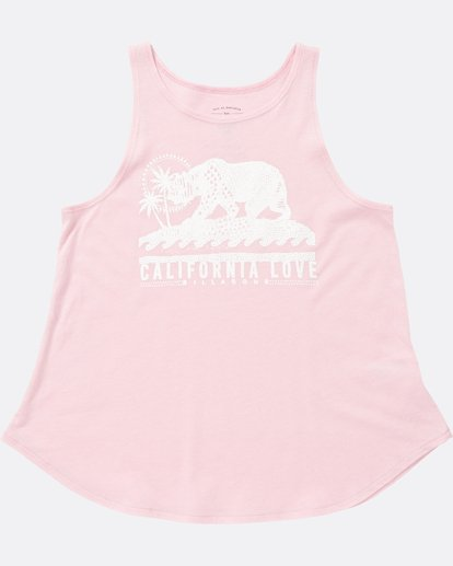1 Girls' Cali Bear Love Tank Pink G414SBCA Billabong