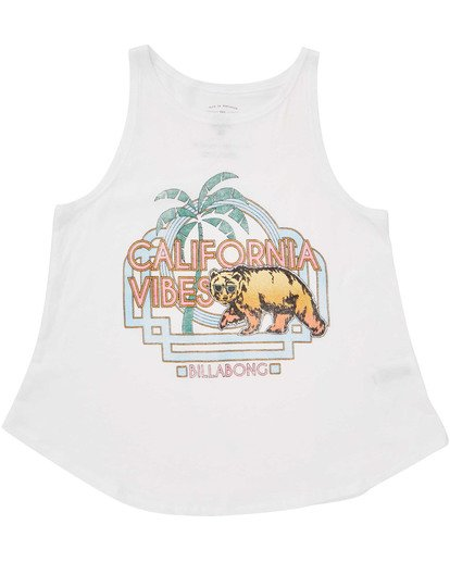 0 Girls' Cali Cool Tank Top White G414TBCA Billabong