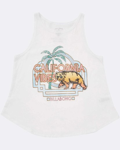 1 Girls' Cali Cool Tank Top White G414TBCA Billabong