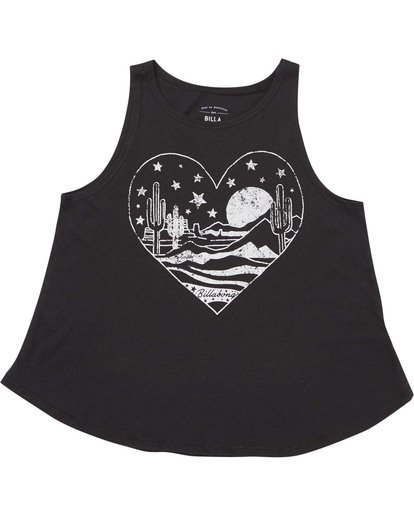 0 Girls' Desert Escape Tank Top Black G414TBDE Billabong