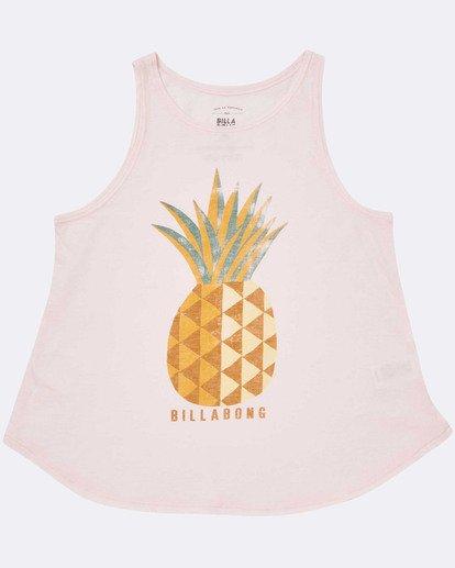 1 Girls' Sunny Pineapple Tank Top Pink G414TBSU Billabong