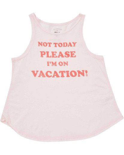 0 Girls' Vacay Tank Top Pink G414TBVA Billabong