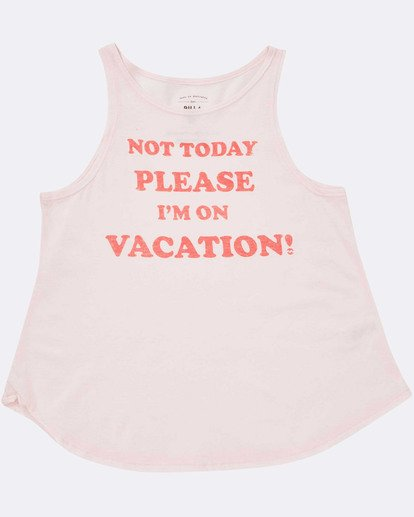 1 Girls' Vacay Tank Top Pink G414TBVA Billabong