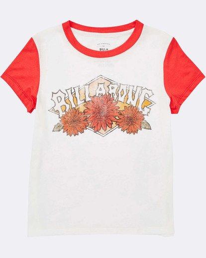 1 Girls' Wild Bloom Tee Red G422TBWI Billabong