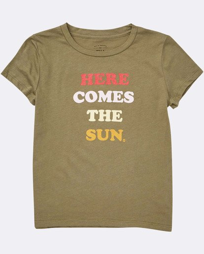 1 Girls' Here Comes The Sun Tee Green G424TBHE Billabong