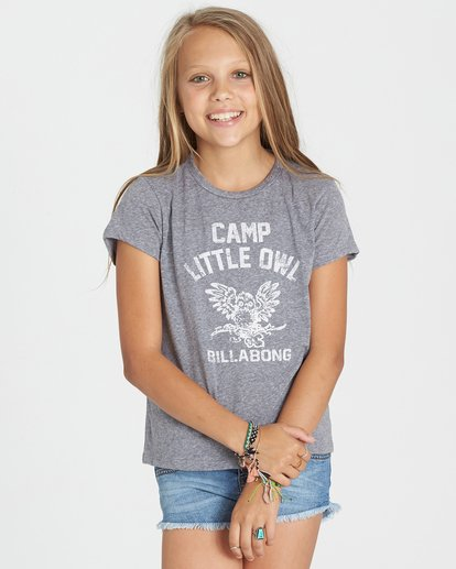 0 Girls' Little Owl Tee  G484KLIT Billabong