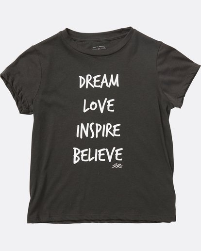 1 Girls' Inspiring Words Tee Black G484SBIN Billabong