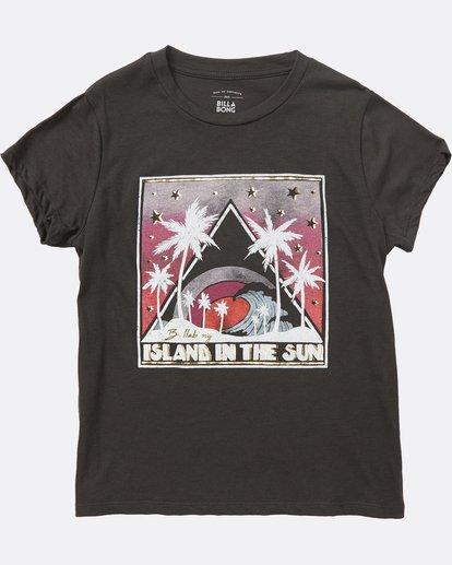 0 Girls' Island Waves Tee Black G484SBIS Billabong