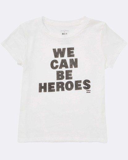 1 Girls' Be A Hero Tee White G484TBBE Billabong