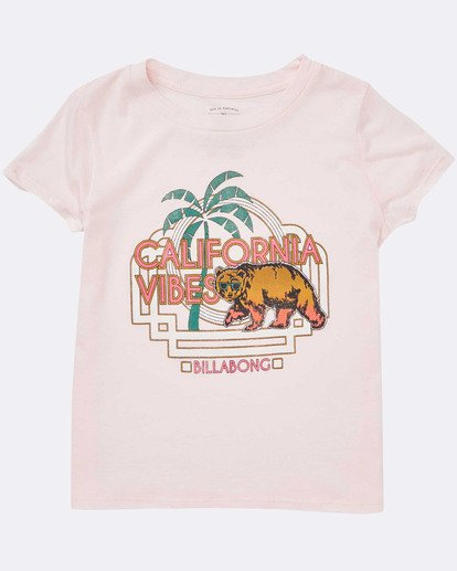 1 Girls' Cali Cool Tee Pink G484TBCA Billabong