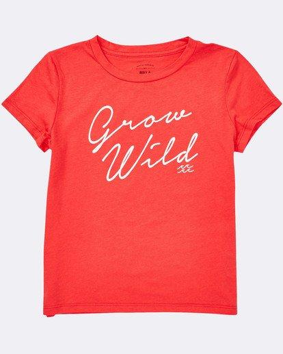 1 Girls' Grow Wild Tee Red G484TBGR Billabong