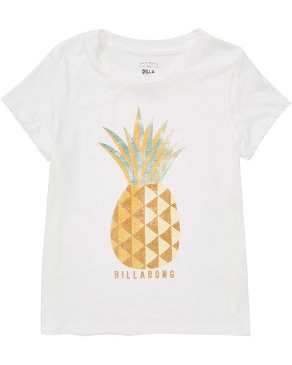 0 Girls' Sunny Pineapple Tee White G484TBSU Billabong