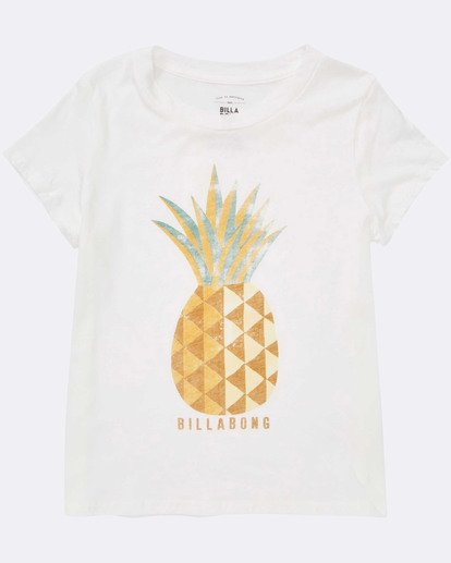 1 Girls' Sunny Pineapple Tee White G484TBSU Billabong