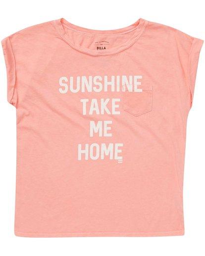 0 Girls' Take Me Home Tee Pink G491NBTA Billabong
