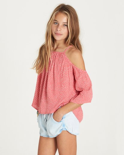 1 Girls' Forever Fun Top Pink G502LFOR Billabong