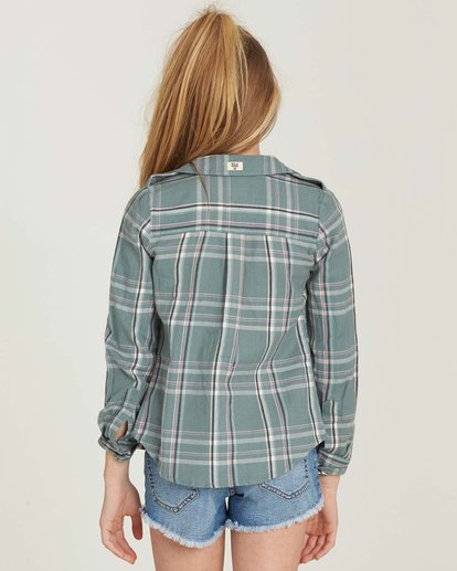 2 Girls' Cozy Up Flannel Shirt Beige G502MCOZ Billabong