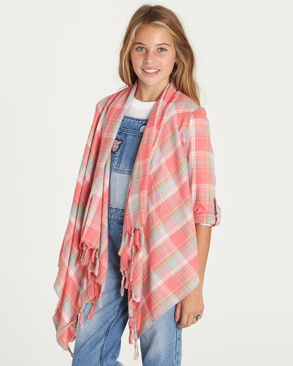 1 Girls' Sceanster Wrap Top Pink G503LSCE Billabong