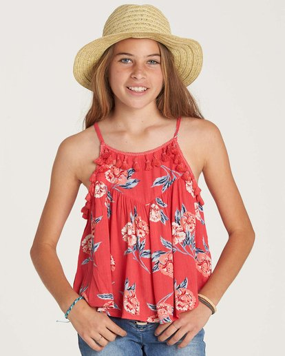 1 Girls' No Hassle Top Red G503NBNO Billabong