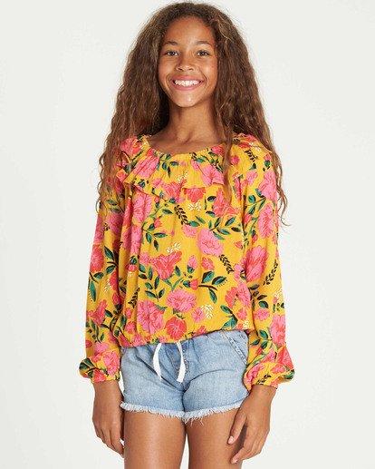 0 Girls' Floral Fields Blouse  G504TBFL Billabong