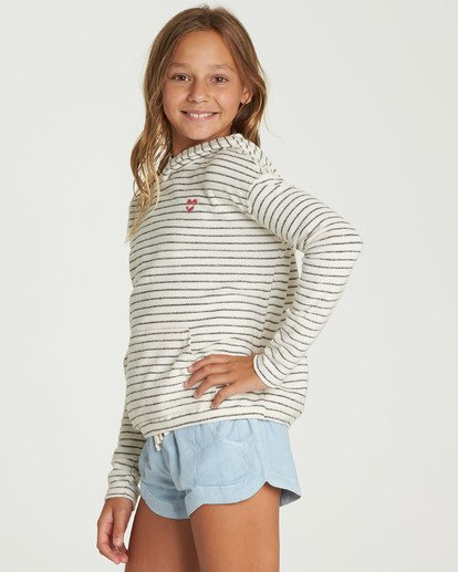 1 Girls' Friday Feeling Hoodie Beige G602QBFR Billabong