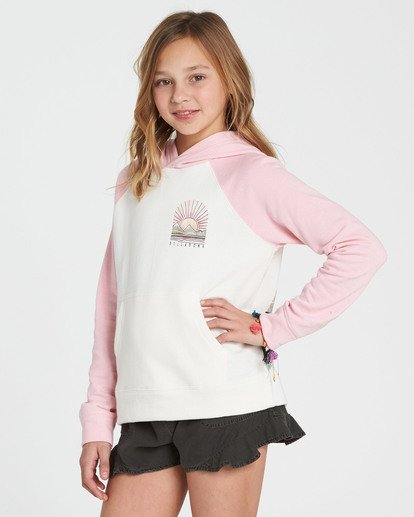 1 Girls' Block Party Hooded Fleece Pink G602SBBL Billabong