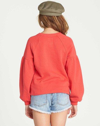 2 Girls' Full Bloom Sweatshirt Red G602TBFU Billabong