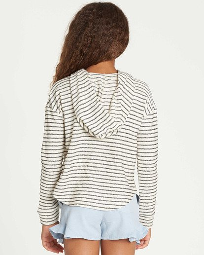 2 Girls' Side To Side Hooded Sweatshirt White G603TBSI Billabong